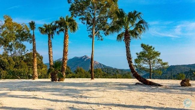 Esterel Caravaning plage de sable blanc
